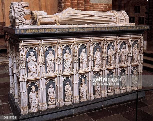 Queen Margaret's tomb Roskilde Cathedral 12th13th century Denmark