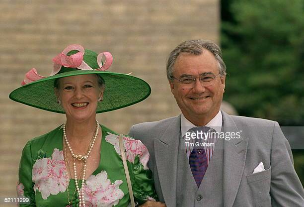 Queen Margrethe And Prince Henrik Of Denmark Arriving For The Wedding Reception For Princess Alexia Of Greece And Carlos Morales Quintana At Kenwood...
