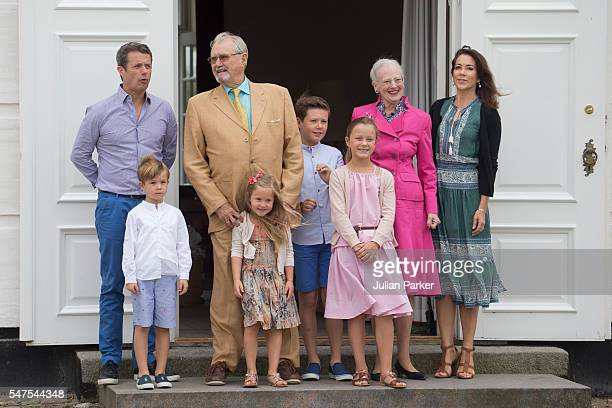 Queen Margrethe and Prince Henrik of Denmark with Crown Prince Frederik and Crown Princess Mary of Denmark and Prince Christian Princess Isabella...