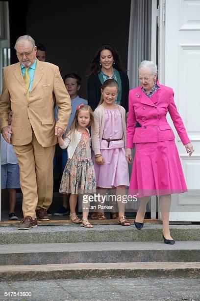 Queen Margrethe and Prince Henrik of Denmark with Crown Princess Mary of Denmarkand Princess Isabella and Princess Josephine of Denmark attend the...