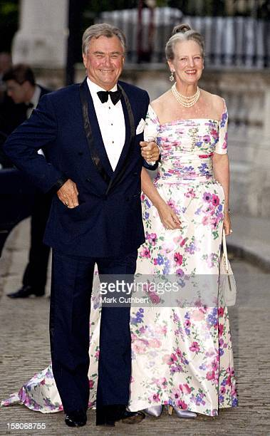 Queen Margrethe Ii And Prince Henrik Of Denmark Attend A Gala At Bridgewater House Prior To The Wedding Of Princess Alexia Of Greece And Carlos...