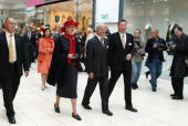 Queen Margrethe II of Denmark and HRH King Carl XVI Gustaf of Sweden visit Field's Scandinavia's largest shopping centre on May 10 2007 in Copenhagen...