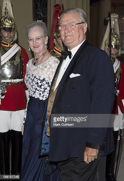 Queen Margrethe Ii Of Denmark And Prince Henrik Of Denmark Arriving For A Dinner Hosted By Prince Charles Prince Of Wales And Camilla Duchess Of...