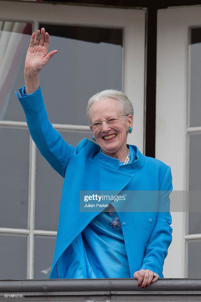 Queen Margrethe II of Denmark attends her 76th Birthday Celebration at Amalienborg Palace, on April 16, 2016, in Copenhagen, Denmark