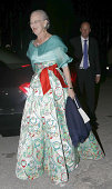 Queen Margrethe II of Denmark attends private dinner to celebrate the Golden Wedding Anniversary of King Constantine II and Queen Anne Marie of...