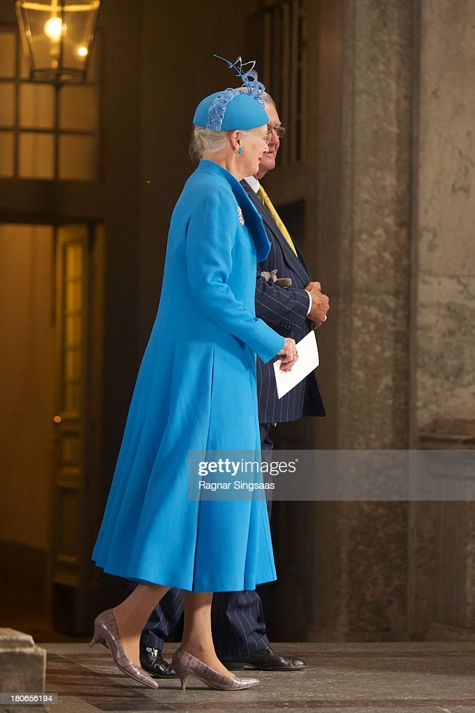 <a gi-track='captionPersonalityLinkClicked' href=/galleries/search?phrase=Queen+Margrethe+II+of+Denmark&family=editorial&specificpeople=171794 ng-click='$event.stopPropagation()'>Queen Margrethe II of Denmark</a> attends Te Deum Thanksgiving Service To Celebrate King Carl Gustaf's 40th Jubilee at The Royal Palace on September 15, 2013 in Stockholm, Sweden.