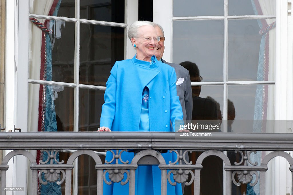 Queen Margrethe II of Denmark attends the celebrations of her Majesty's 76th birthday at Amalienborg Royal Palace on April 16, 2016 in Copenhagen, Denmark.