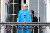 Queen Margrethe II of Denmark attends the celebrations of her Majesty's 76th birthday at Amalienborg Royal Palace on April 16 2016 in Copenhagen...