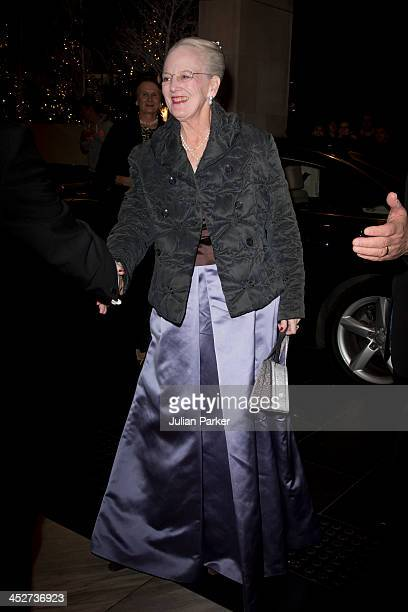 Queen Margrethe II of Denmark attends The Danish Clubs 150th Gala Dinner at Hotel Intercontinental on November 30 2013 in London England