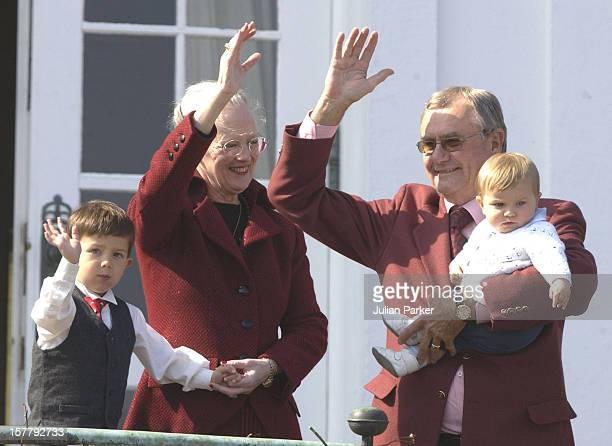 Queen Margrethe Ii Of Denmark Celebrates 63Rd Birthday At Marselisborg Castle In Aarhus Denmark Accompanied By Crown Prince Frederik Prince Joachim...