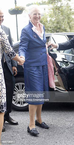 Queen Margrethe II of Denmark is seen arriving at a restaurant on September 18 2014 in Athens Greece