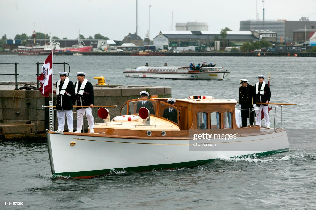 Queen Margrethe II of Denmark returns to quay after attending the farewell parade at the royal ship Dannebrog which marks the end of the sailing season on September 13, 2017 in Copenhagen, Denmark. This evening the Queen host a dinner for the ships officers. Each year the cruises with Dannebrog takes the Queen to different part of the Kingdom during the summer season.