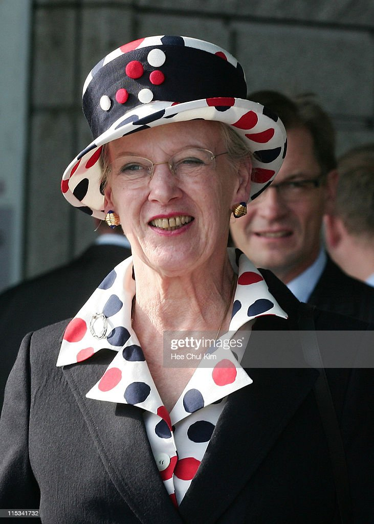 Queen Margrethe II of Denmark visit at National War Memorial on October 6 2007 in Seoul South Korea