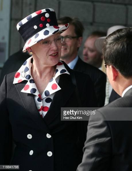 Queen Margrethe II of Denmark visit at National War Memorial on October 6 2007 in Seoul South Korea