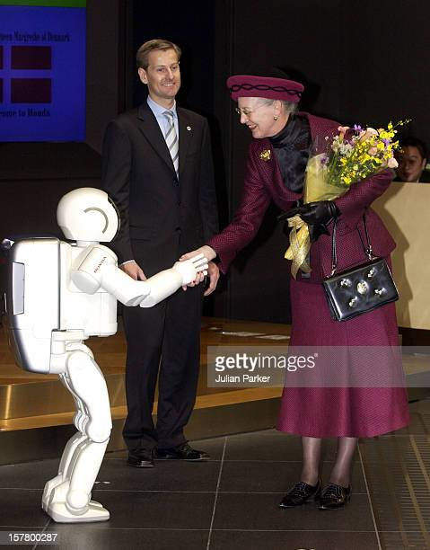 Queen Margrethe Ii Prince Henrik Of Denmark'S State Visit To JapanVisit To The Honda Headquarters In Tokyo Where She Watched A Demonstration Of...