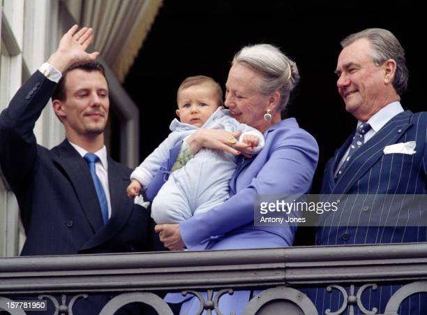 Queen Margrethe Ii Prince Henrik Prince Joachim Princess Alexandra Prince Nikolai Of Denmark At The Queen'S 60Th Birthday Celebrations In...