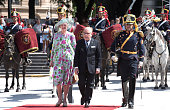 Queen Margrethe of Denmark and Crown Prince Frederik...