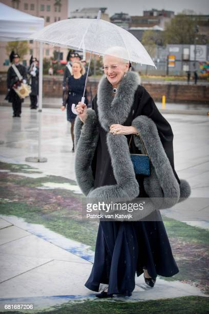 Queen Margrethe of Denmark arrives at the Opera House on the ocassion of the celebration of King Harald and Queen Sonja of Norway 80th birthdays on...