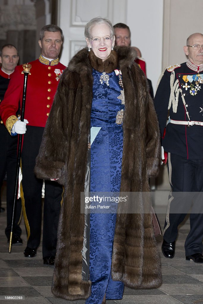 Queen Margrethe of Denmark attends a New Year's Levee held by Queen Margrethe of Denmark for Diplomats, at Christiansborg Palace on January 3, 2013 in Copenhagen, Denmark.