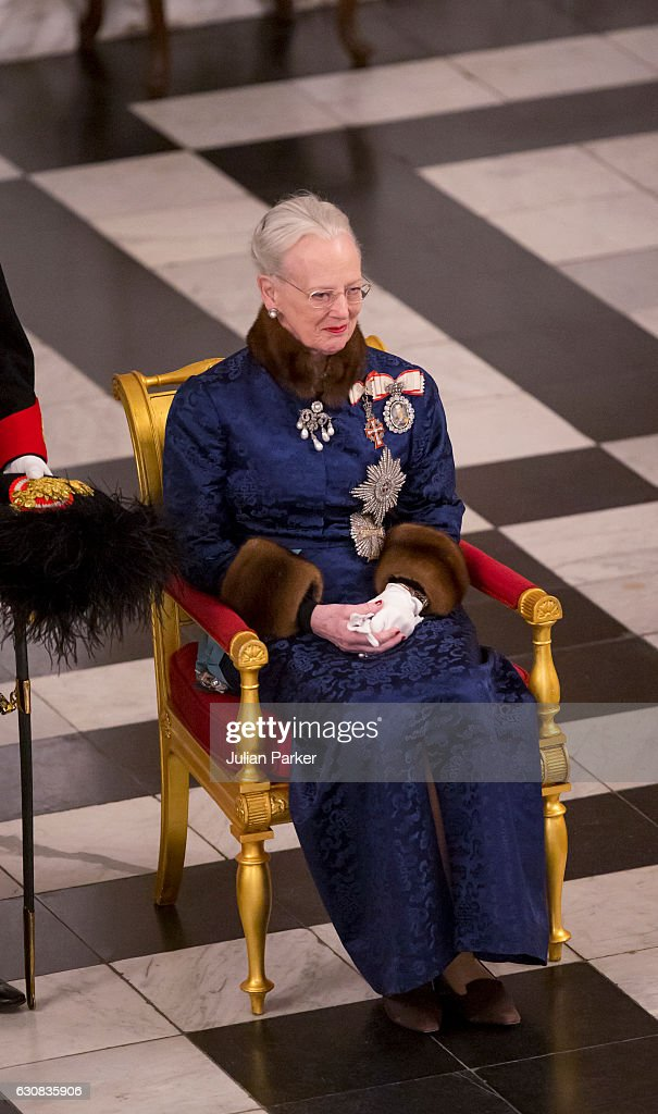 Queen Margrethe of Denmark attends a New Year's Levee held for Diplomats at Christiansborg Palace on January 3, 2017 in Copenhagen, Denmark.
