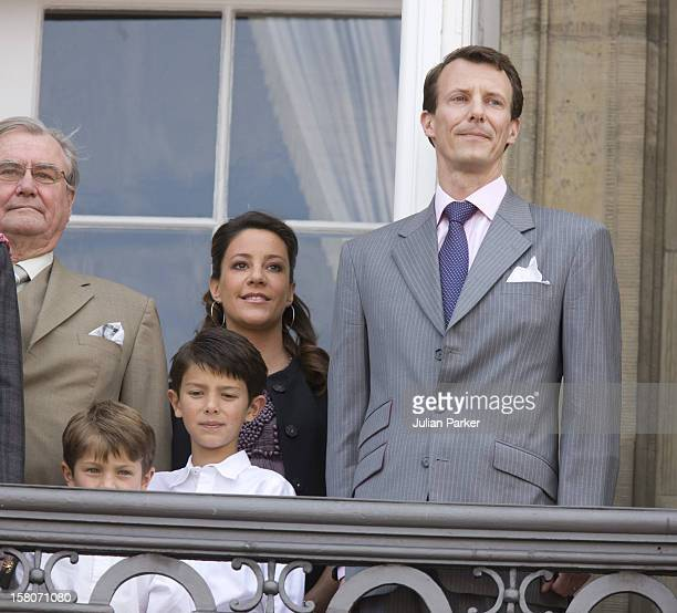 Queen Margrethe Of Denmark Celebrates Her 69Th Birthday With A Balcony Ceremony At Amalienborg Palace In Copenhagen With Members Of The Danish Royal...