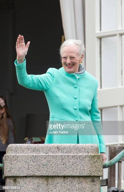 Queen Margrethe of Denmark celebrates her 77th Birthday at Marselisborg Palace on April 16 2017 in Aarhus Denmark