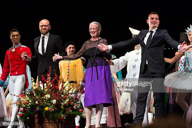 Queen Margrethe of Denmark together with the ballet troupe receive the audiences standing ovations at the premiere evening of the Tarkovsky 'The...