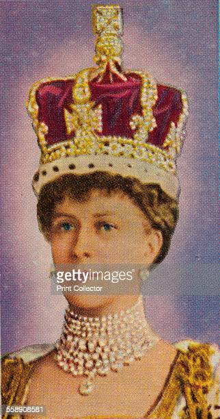 Queen Mary consort of King George V at her coronation 1911 Ardath cigarette card from a series of 50 commemorating the Silver Jubilee of King George...