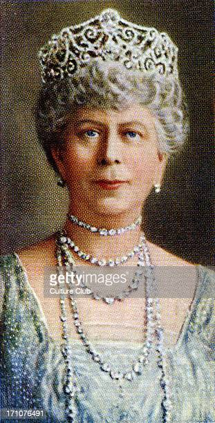 Queen Mary Of Teck portrait Queen Mary of Teck married George V in 1893 From Player's cigarette cards based on a photograph by Hay Wrightson