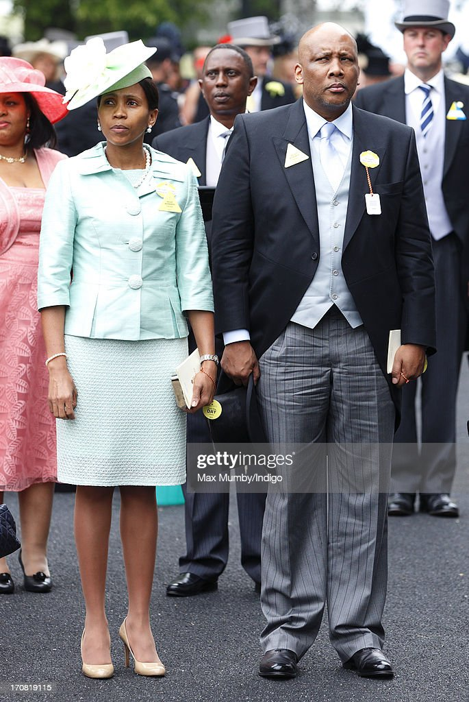 Queen Masenate Mohato Seeiso of Lesotho and King <a gi-track='captionPersonalityLinkClicked' href=/galleries/search?phrase=Letsie+III&family=editorial&specificpeople=572600 ng-click='$event.stopPropagation()'>Letsie III</a> of Lesotho attend Day 1 of Royal Ascot at Ascot Racecourse on June 18, 2013 in Ascot, England.