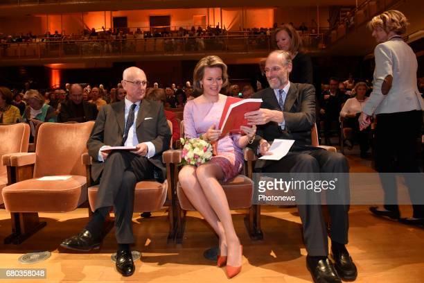 Queen Mathilde attends the qualification sessions of the 2017 Queen Elisabeth Cello Competition Baron Jan Huyghebaert President Mathilde Ivan de...
