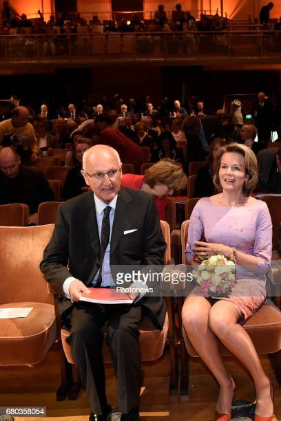 Queen Mathilde attends the qualification sessions of the 2017 Queen Elisabeth Cello Competition aron Jan Huyghebaert President Queen Mathilde
