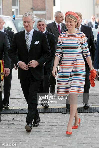Queen Mathilde of Belgium and King Philippe of Belgium attend 35th Floralies Of Ghent Official Launch on April 21 2016 in Ghent Belgium
