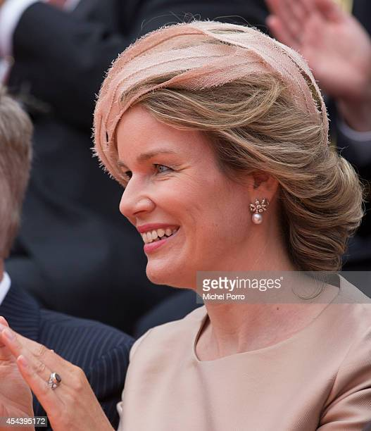Queen Mathilde of Belgium attends celebrations marking the 200th anniversary of the kingdom of The Netherlandson August 30 2014 in Maastricht The...