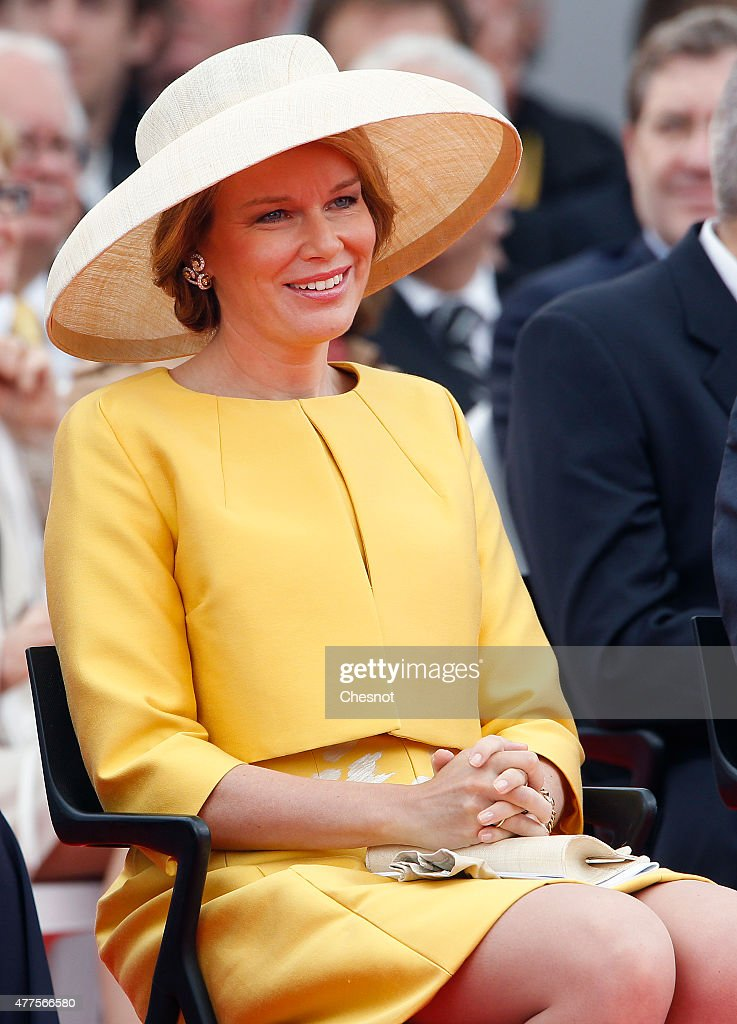 Queen Mathilde of Belgium attends the Belgian federal government ceremony to commemorate the bicentenary of the Battle of Waterloo on June 18, 2015 in Waterloo, Belgium. The ceremony is at the start of three days of official events marking the 200th anniversary of the Battle of Waterloo during which around 5000 historical re-enactors from around the world will take part in events culminating in a re-enactment of the allied defeat of Napoleon's army on June 20th. The 1815 battle saw the overthrow of Napoleon Bonaparte and the restoration of Louis XVIII to the French throne.