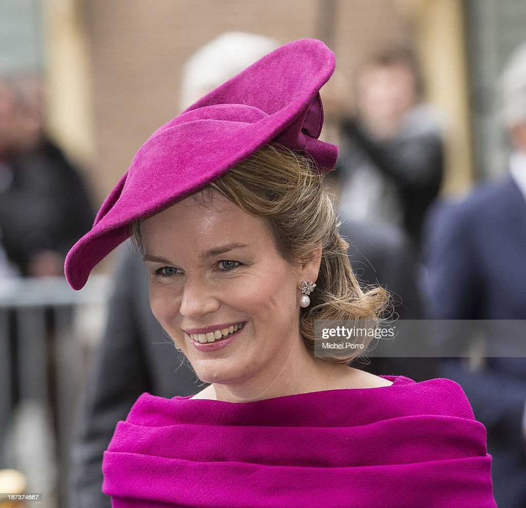 <a gi-track='captionPersonalityLinkClicked' href=/galleries/search?phrase=Queen+Mathilde+of+Belgium&family=editorial&specificpeople=239189 ng-click='$event.stopPropagation()'>Queen Mathilde of Belgium</a> during an official visit to The Netherlands on November 8, 2013 in The Hague, Netherlands.
