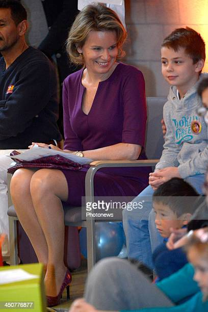 Queen Mathilde of Belgium in her role as UNICEF Ambassador attends a concert 'Shanti Shanti' on UNICEF's Universal Children's Day observed as a day...