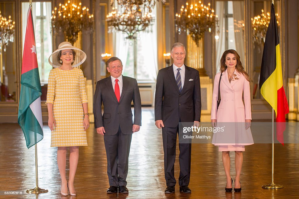 Abdullah II  of Jordan and Queen Rania Of Jordan on Official Three day State Visit in Belgium: Day Two
