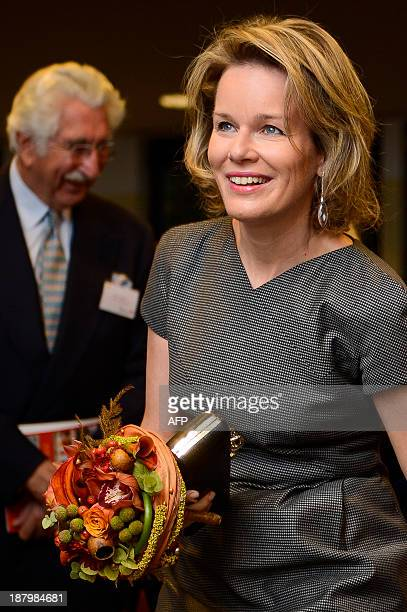 Queen Mathilde of Belgium pictured during the tenth anniversary of Toolbox a nonprofit organizaton to support and improve the management structures...