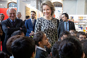 BEL: Queen Mathilde Of Belgium Visits The 50th Edition Of Brussels' Book Fair