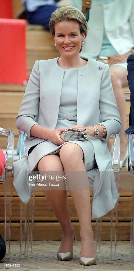 <a gi-track='captionPersonalityLinkClicked' href=/galleries/search?phrase=Queen+Mathilde+of+Belgium&family=editorial&specificpeople=239189 ng-click='$event.stopPropagation()'>Queen Mathilde of Belgium</a> visits the pavilion of Belgium during the national day of Belgium at the Expo 2015 on June 12, 2015 in Milan, Italy.