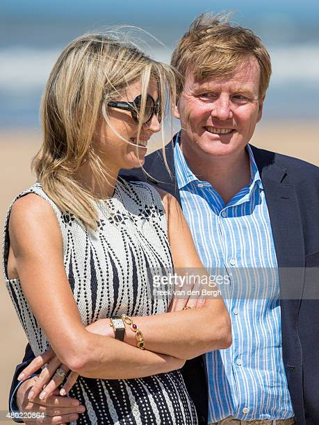Queen Maxima and King WillemAlexander of The Netherlands pose for pictures on July 10 2015 in Wassenaar Netherlands