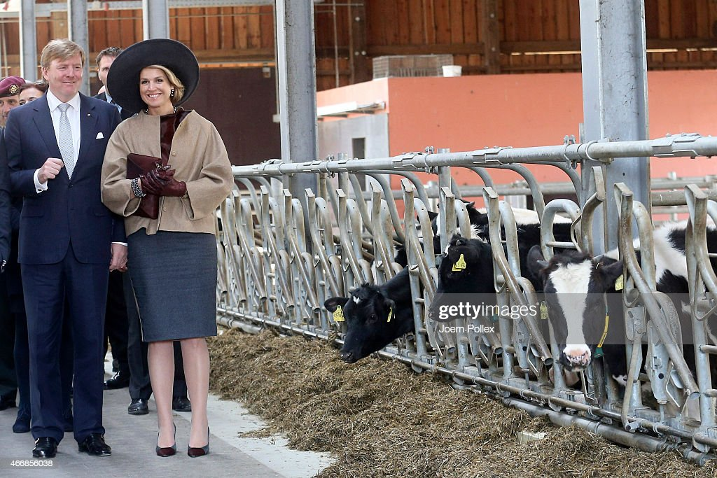 Queen Maxima and King WillemAlexander of the Netherlands visit the Thuenen institute during their state visit on March 19 2015 in Westerau Germany