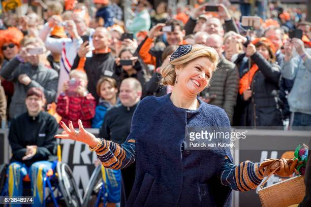 Queen Maxima attends the King's 50th birthday during the Kingsday celebrations on April 27 2017 in Tilburg Netherlands