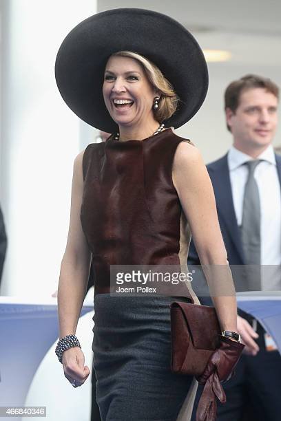Queen Maxima of of the Netherlands is seen at the Draeger Medical GmbH during her state visit on March 19 2015 in Luebeck Germany