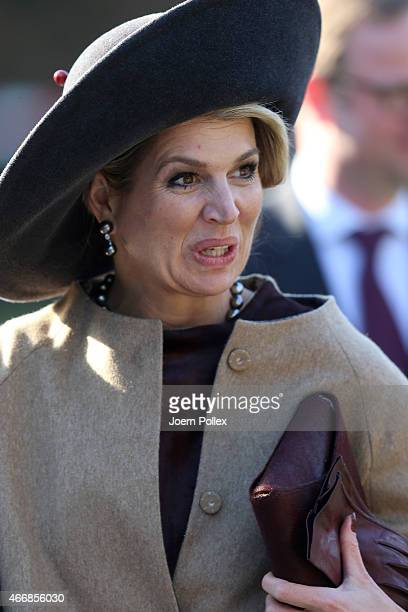 Queen Maxima of of the Netherlands visits the Thuenen institute during her state visit on March 19 2015 in Westerau Germany