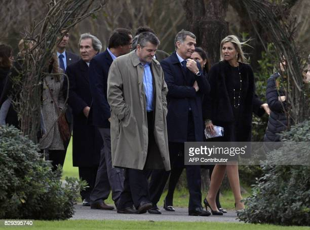 Queen Maxima of the Netherlands along with friends and relatives leaves the Memorial park in Pilar Buenos Aires outskirts after the burial ceremony...