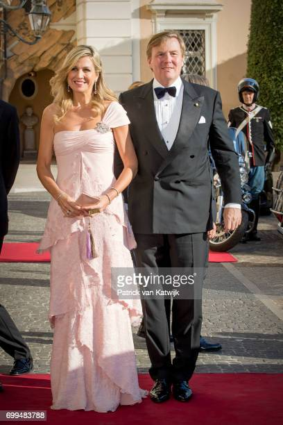 Queen Maxima of The Netherlands and King WillemAlexander of The Netherlands attend a concert for President Sergio Mattarella performed by Dutch...