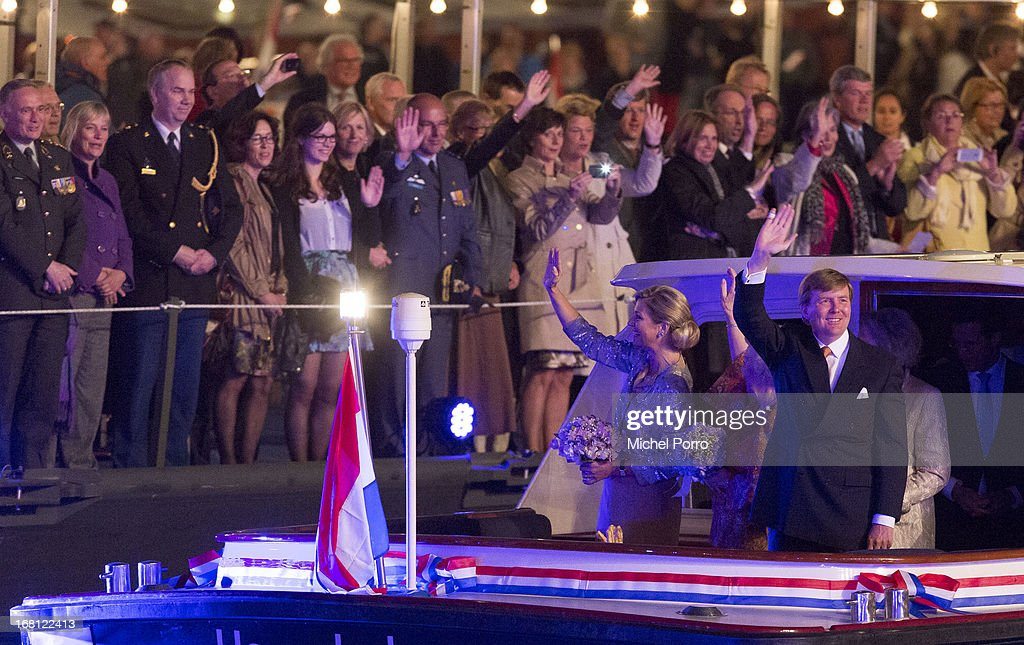 Queen Maxima of The Netherlands (L) and <a gi-track='captionPersonalityLinkClicked' href=/galleries/search?phrase=King+Willem-Alexander&family=editorial&specificpeople=160214 ng-click='$event.stopPropagation()'>King Willem-Alexander</a> of The Netherlands attend the Freedom Concert on May 5, 2013 in Amsterdam Netherlands.