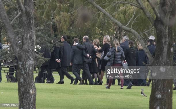 Queen Maxima of The Netherlands and relatives and friends attend Jorge Zorreguieta's funeral at Parque de la Memoria on August 10 2017 in Buenos...